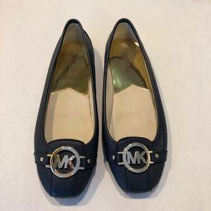Michael Kors navy blue flats